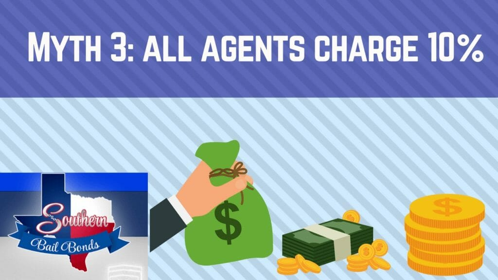 Bail Bond myth #3 - all agents charge the same 10%
